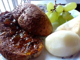 breakfast bread n fruit by plainordinary1