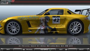 Sword Art Online Mercedes SLS AMG GT3 Itasha_02 by FAT8893