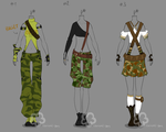 Camouflage Outfit Adopts - sold by Nahemii-san