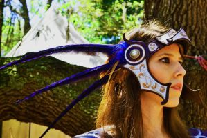 Custom Leather Valkyrie Headpiece by b3designsllc