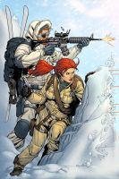 Snowjob and Scarlett by spidermanfan2099