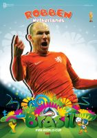 ARJEN ROBBEN WORLD CUP 2014 POSTER by asendos