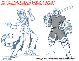 August Livestream Sketch Commissions 4 by lady-cybercat