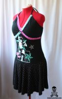 BETTIE PAGE Halter Dress 2 by smarmy-clothes
