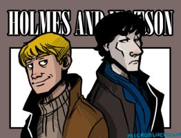Holmes and Watson by Microbluefish