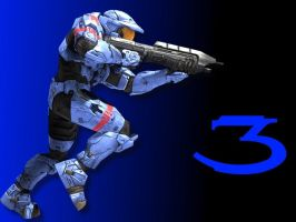 Halo 3 Wallpaper - Blue by Joeshmoe59697