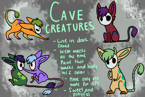 Cave Creatures by SIMPLYINLOVE