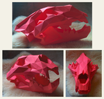 Lion Skull Papercraft by Gedelgo
