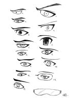 Eye doodles by RusimRedom