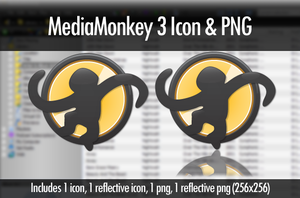 MediaMonkey 3 Icon and PNG by MrEyePatch