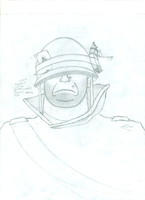 WIP: First Soldier Drawing by ericremotesteam