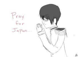 Pray for Japan by akitokun1