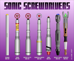 Sonic Screwdrivers by jonizaak