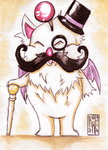 Moustachioed Moogle (Commission) by kagekabuki