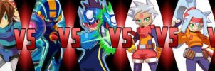 DEATH BATTLE: Mega Men Battle Royale by G-Odzilla