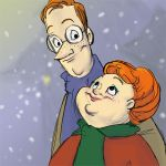 Mr and Mrs Weasley by TwiggyMcBones