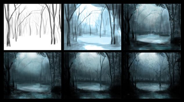 Mystical forest process by Azot2017