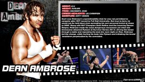 WWE Dean Ambrose ID Wallpaper Widescreen by Timetravel6000v2