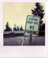No Parking Polaroid by jesseboy000