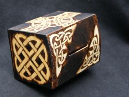 Celtic knot money box top by llinosevans