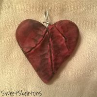 Scarred Heart Pendant #3 (FOR SALE) by SpookyCandyTheater