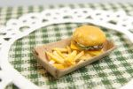 Hamburger and French Fries Tray by Nassae