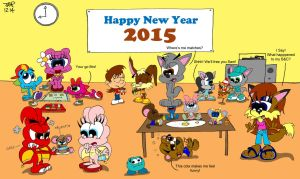Happy New Year 2015 by JimmyCartoonist