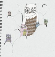a Bowl of Owl by dybia