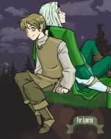 Chase and Ben - For Aywren by Jeishii