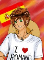 Spain loves Romano by Tsukimochi