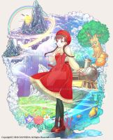 Girl's fantasy world travelogue Cover illust by hayousena