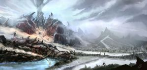 Gow Exterior : Mount Kazarr by DreadJim