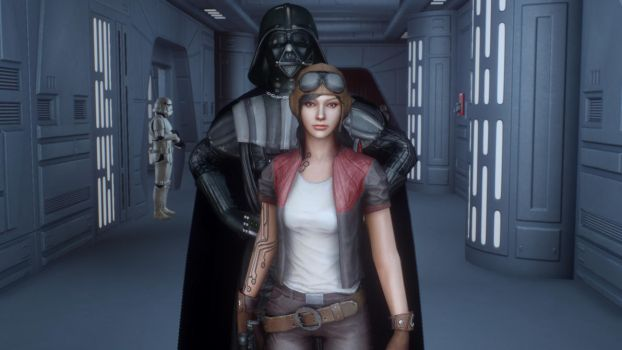 Dr Aphra and Darth Vader II by CptRex
