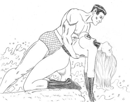 Namor and Sue commission by zanfadar
