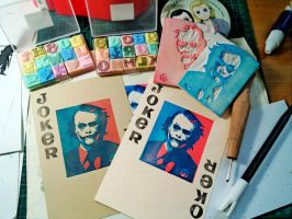 Joker Stamp Prints by amoykid