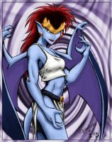 Demona - coloured by Epantiras