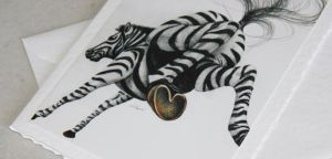 Zebra greeting card by fatboygotsick