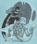 Earth 2 Batman vs. Mr. Freeze by Steevcomix