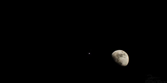Jupiter and the Moon by Phoenix1583