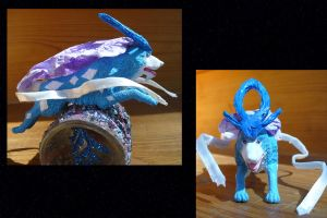 Suicune figure by Wolf--Shadow