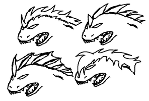 dragon base head accessories by shi562