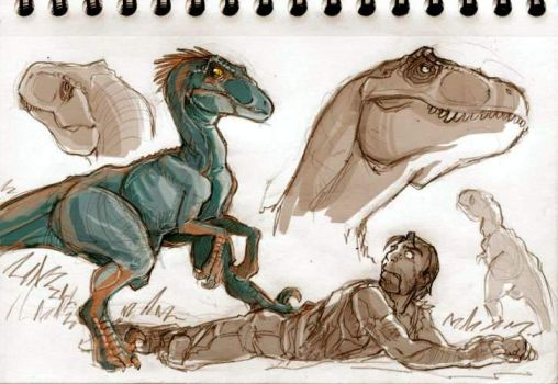Dinosaurs sketches part 03 by VanOxymore