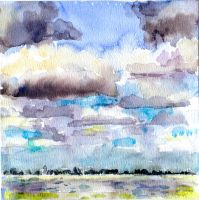 aquarel  landscape by my mom by LinsDrawn