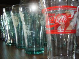 CokeCola Glasses Stock by MzFrkD