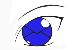 Papercut's Eye Colored by blue-sky-ninja