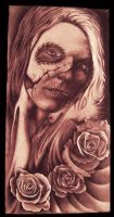 Day of the Dead on Canvas by hatefulss