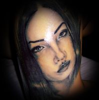 Girl portrait tattoo by virlaneduard