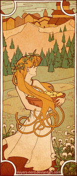 Lo9.  Art Nouveau Idunn by midwaymilly