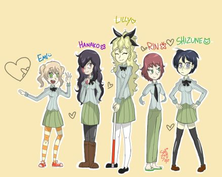Katawa Shoujo girls by Sax-and-Solo
