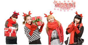 2NE1 Christmas Render by RadientGlow